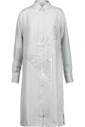 THOM BROWNE Printed silk-satin dress