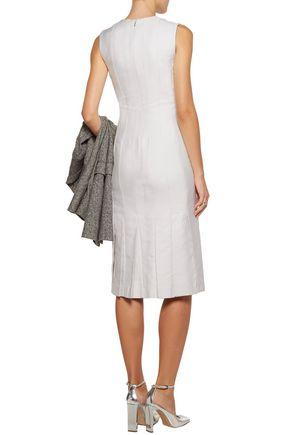 THOM BROWNE Moon Geisha pleated silk-jacquard dress