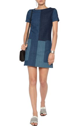J BRAND Luna paneled denim mini dress