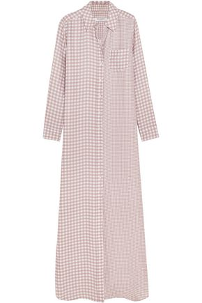 EQUIPMENT Brett gingham washed-silk maxi dress