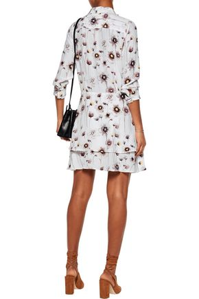 EQUIPMENT Natalia pleated printed washed-silk dress