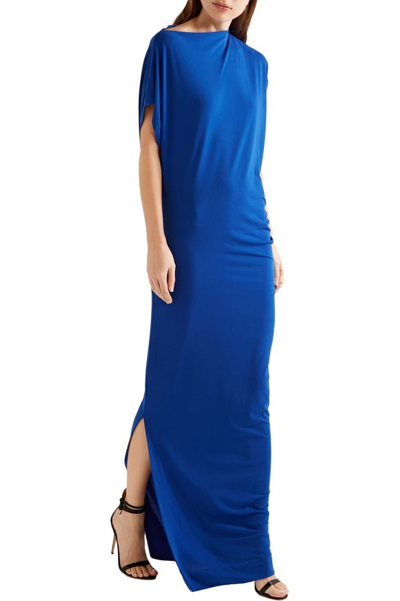 Nasalio draped stretch-crepe maxi dress | BY MALENE BIRGER | Sale up to 70%  off | THE OUTNET