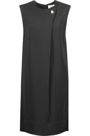 BY MALENE BIRGER Citi embellished wrap-effect crepe dress