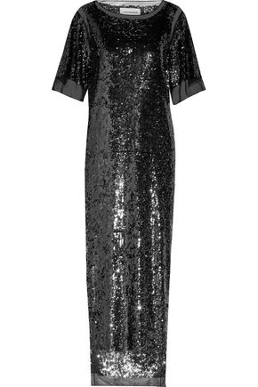 BY MALENE BIRGER Lines sequined tulle maxi dress