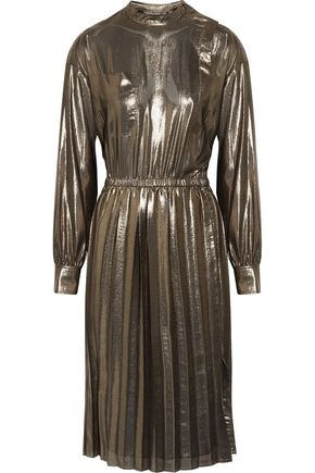 ISABEL MARANT ÉTOILE Mae pleated lamé dress