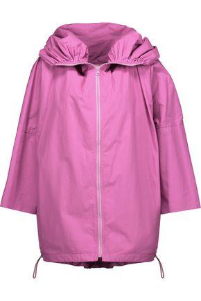SEA Ruched cotton-poplin jacket
