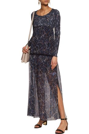 SEE BY CHLOÉ Printed cotton and silk-blend voile and jersey maxi dress
