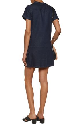 SEE BY CHLOÉ Embroidered stretch-denim mini dress