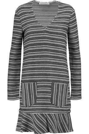 SEE BY CHLOÉ Fluted striped cotton-blend mini dress