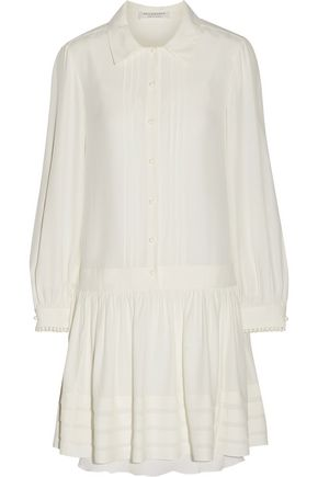 PHILOSOPHY di LORENZO SERAFINI Pleated chiffon mini dress