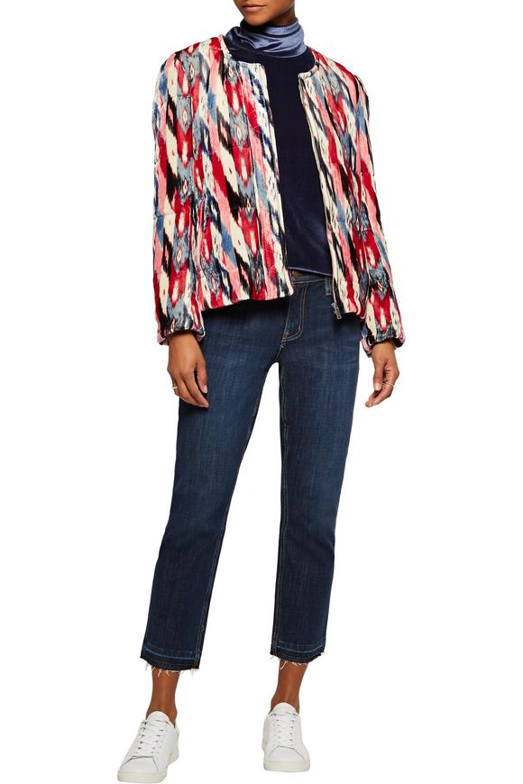 Lita printed velvet jacket | ISABEL MARANT ÉTOILE | Sale up to 70% off |  THE OUTNET