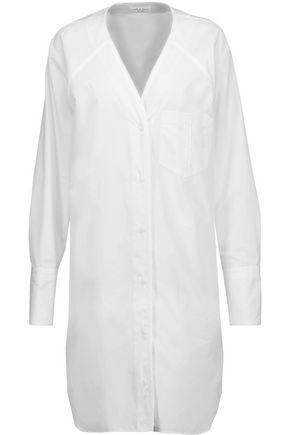 RAG & BONE Shults silk-trimmed cotton-poplin shirt dress