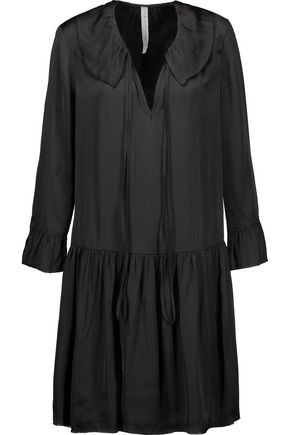 RAQUEL ALLEGRA Gathered satin mini dress