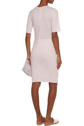 RAQUEL ALLEGRA Layered cotton-blend jersey mini dress