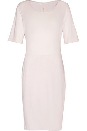 RAQUEL ALLEGRA Layered cotton-blend jersey mini dress