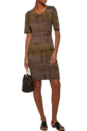 RAQUEL ALLEGRA Cotton-blend jersey mini dress