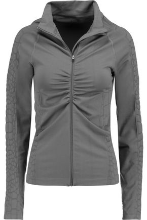 YUMMIE by HEATHER THOMSON Vera croc-effect stretch-jersey jacket