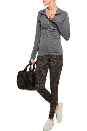 YUMMIE by HEATHER THOMSON® Vera croc-effect stretch-jersey jacket