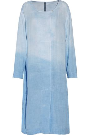 RAQUEL ALLEGRA Wrap-effect dégradé cotton-gauze dress