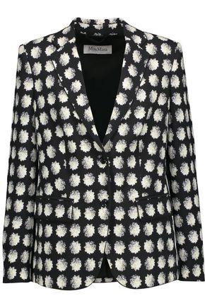 MAX MARA Floral-print crepe blazer