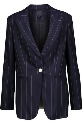 MAX MARA Striped wool-blend blazer