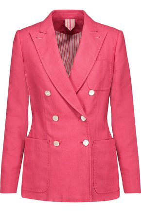 MAX MARA Silk and linen-blend blazer