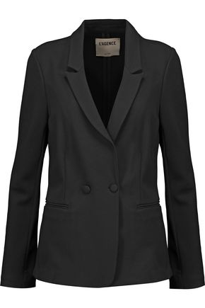 L'AGENCE Monte Carlo double-breasted ponte blazer
