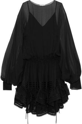 CHLOÉ Ruffled silk-chiffon mini dress