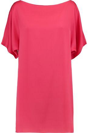 MILLY Stretch-silk mini dress