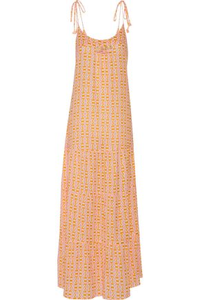FIGUE Brielle embellished printed cotton-blend gauze maxi dress