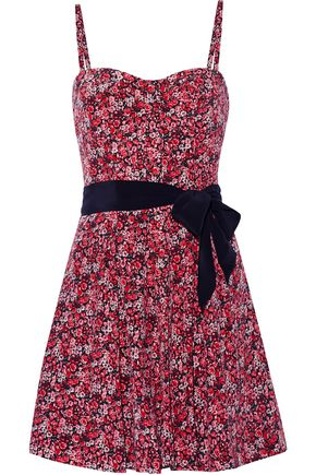 JOIE Exie floral-print silk mini dress