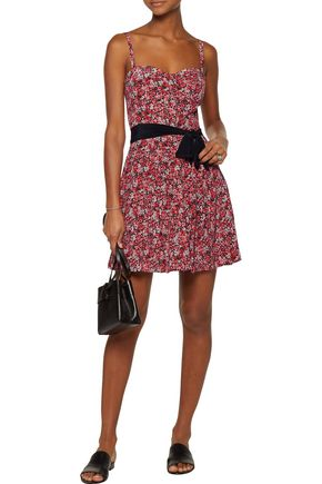 JOIE Floral-print silk mini dress