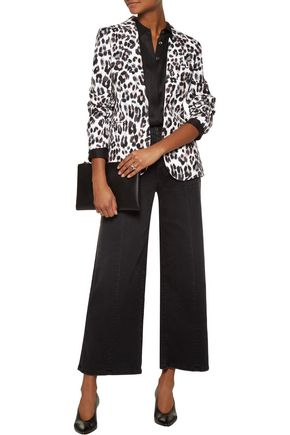 JOIE Leopard-print linen blazer