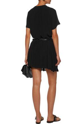 JOIE Pintucked chiffon mini dress