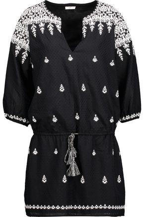 JOIE Joren embroidered cotton-blend mini dress