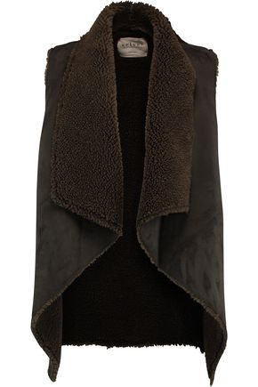VELVET by GRAHAM & SPENCER Faux shearling-lined faux suede gilet