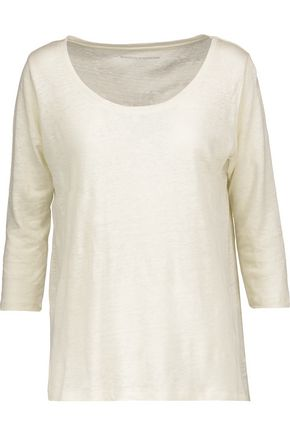 MAJESTIC Slub linen top
