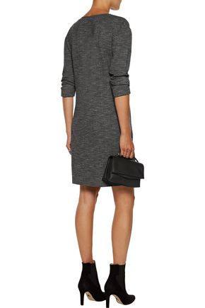THEORY Marled stretch-jersey mini dress