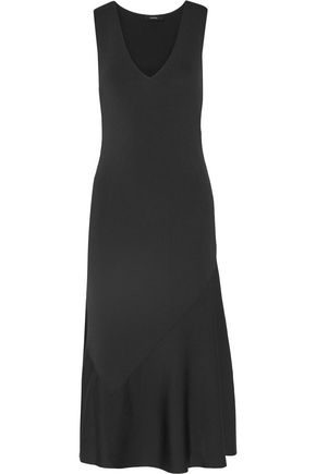 THEORY Gardella fluted stretch-knit midi dress
