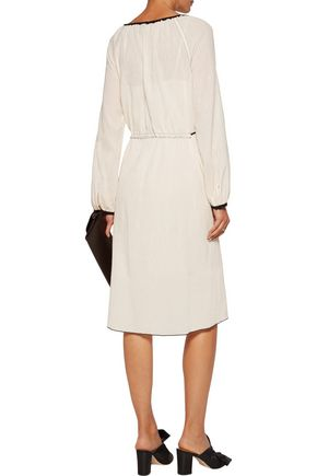 THEORY Etsville tasseled cotton-gauze dress