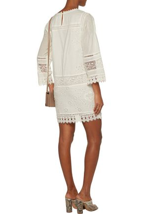 JOIE Chantay broderie anglaise cotton mini dress