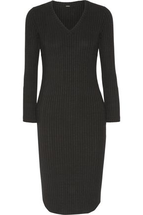 MONROW Ribbed jersey dress