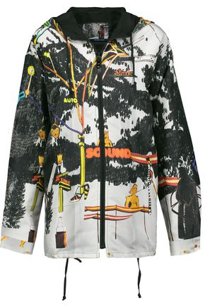 PRADA Printed silk-faille hooded jacket