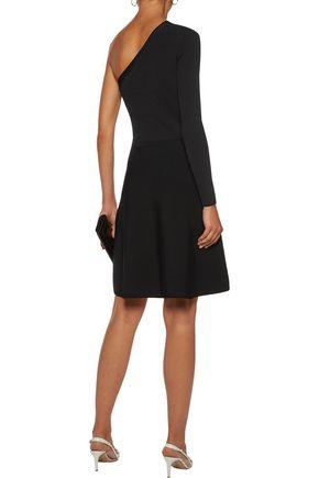 SANDRO Shirley one-shoulder ribbed-knit dress