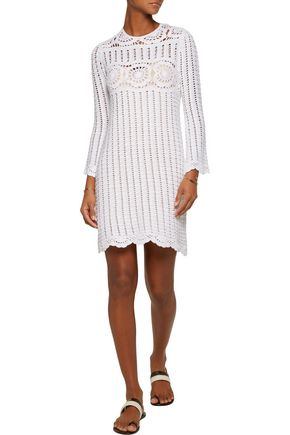 ISABEL MARANT ÉTOILE Hariett open-knit linen and cotton-blend mini  dress