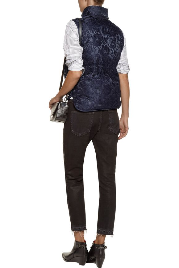 Lowna corded lace and quilted shell vest   SANDRO   Sale up to 70% off    THE OUTNET
