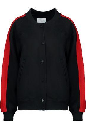 SANDRO Color-block wool-blend felt bomber jacket
