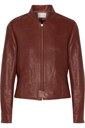 SANDRO Pebbled leather jacket