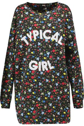 LOVE MOSCHINO Typical Girl floral-print cotton-jersey dress