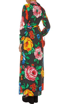LOVE MOSCHINO Printed crepe maxi dress